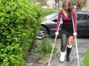 Maura Crutches Around