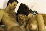 Big tit shemale gets fucked huge cum shot