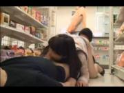 Slut exposed and blowjob in store - censored