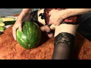 Sissy Watermelon and Veggie Fuck Fest