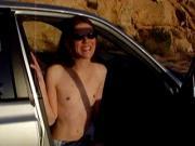 Tiny Tit Teen Anne Desert Blowjob