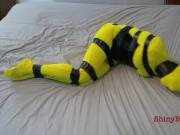 Simone Taped Up Tight in Spandex Zentai Suit