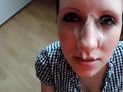 20yr old Kelly gets a huge facial