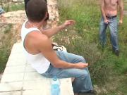 Perverse amateur outdoor orgy