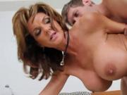 Milf Deauxma black stockings