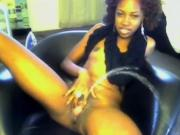 Pretty Ebony Plays and Spread Pretty Ass