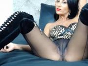 Nice time with Celia in boots and black pantyhose