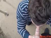 Cute brunette straight dude Erik lends his asshole for cash