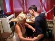 Drunk lady gets fucked In Kitchen