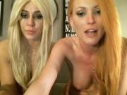 Skinny redhead slut on cam with blonde friend