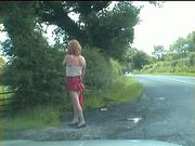 Exhibitionist tranny whore flaunts in North Lancs