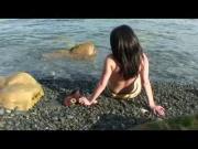 Nude Beach - Cute Big Boob POV Fuck & CIM Facial