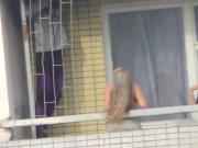 SpyCams Caught Voyeur Balcony Topless Girl