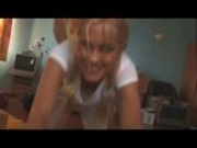 blonde college girl gets fingered and fucked