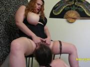 Koe Goddess mistreats her lucky slave