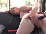 Pretty amateur french brunette ass plugged and pounded