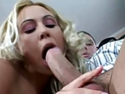 Foxy Blonde Bashes The Beaver