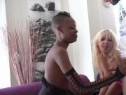 2 horny french slut sucks n fucks in interracial 4some orgy