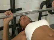 Korean Works Out Cock in Gym 1