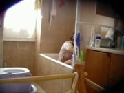 Spying my lovely sister in bath room. Hidden cam