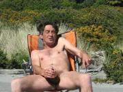 Steve wanking at beach