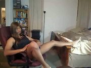 Hot Ebony Crossdresser Shows Off For The Camera