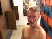 The man in the locker room