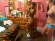 white black girl booty shake