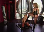 British slut Layla Jade gets disciplined by Nina Hartley