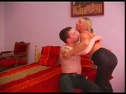Russian mature BBW & her young boyfriend
