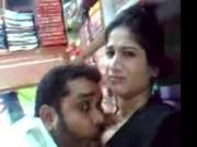 Desi bhabhi blowjob and hubby sucking tits inside shop