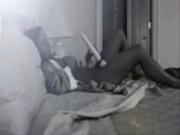 Spy cam caught my cute mom masturbating