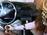 Sexy Dutch girl takes first driving lesson part 1