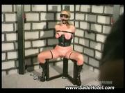 Slave tied and blindfolded