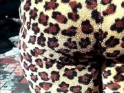 All Up In A Big Juicy Ass In Animal Print Jammies