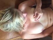 Blonde, hit Milf playing with her pussy
