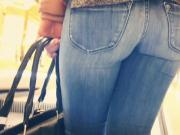 Sexy tight candid jeans ass - 17 - close up