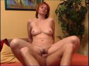 Young boy fucks her hairy aunt
