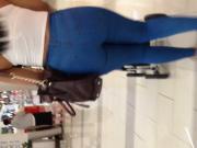 Nice fat booty Milf in blue jeans