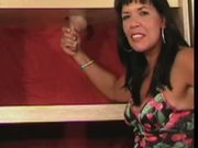 Jill does great slow handjob with nice cumshot