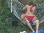 Girlfriend Caught Fucking With Friend in the Backyard