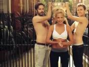 Helene Fischer in bra gets wet