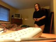 Wife strips down slow mo