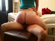 Chubby Ass Rides the Hell out of Hard Cock