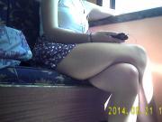 Candid teen legs