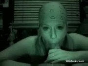 Night cam blowjob