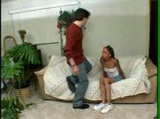 Ebony pornstar Maya fucks a white cock
