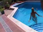 French Starla Topless by the pool