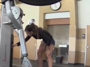 hot Babe in gym