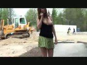 Sexy public flashing